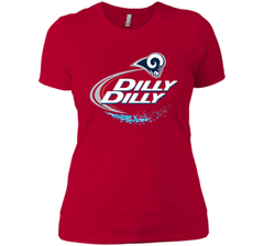 Los Angeles Rams Dilly Dilly Bud Light T-Shirt LAR NFL Football Team Gift for Fans Next Level Ladies Boyfriend Tee - PresentTees