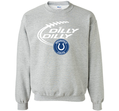 DILLY DILLY Indianapolis Colts shirt Crewneck Pullover Sweatshirt 8 oz - PresentTees