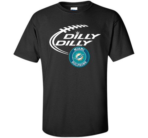 DILLY DILLY Miami dolphins shirt Black / Small Custom Ultra Cotton Tshirt - PresentTees