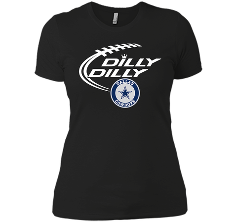 DILLY DILLY  Dallas Cowboys shirt Black / Small Next Level Ladies Boyfriend Tee - PresentTees
