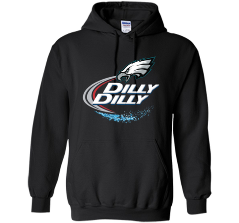 Philadelphia Eagles Dilly Dilly T-Shirt NFL Football Gift Fans Black / Small Pullover Hoodie 8 oz - PresentTees