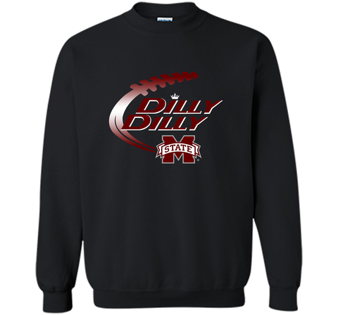 Dilly Dilly Mississippi State T-Shirt Black / Small Crewneck Pullover Sweatshirt 8 oz - PresentTees