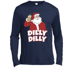 Christmas Santa Claus Dilly Dilly Shirt Gift 4 Beer T Shirt LS Moisture Absorbing Shirt - PresentTees