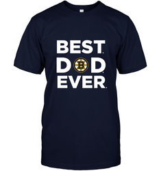 Best Boston Bruins Dad Ever Hockey NHL Fathers Day GIft For Daddy Men's T-Shirt