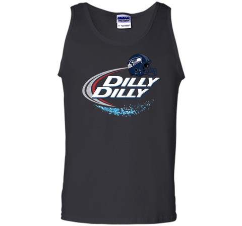 Seattle Seahawks Dilly Dilly Bud Light T Shirt SEA NFL Football Black / Small Tank Top - PresentTees