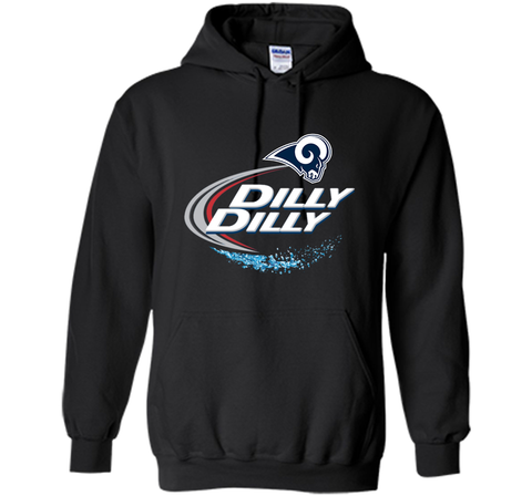 Los Angeles Rams Dilly Dilly Bud Light T-Shirt LAR NFL Football Team Gift for Fans Black / Small Pullover Hoodie 8 oz - PresentTees