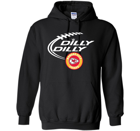 DILLY DILLY Kansas city Chiefs shirt Black / Small Pullover Hoodie 8 oz - PresentTees