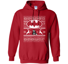 DC COMICS BATMAN FAIR ISLE CHRISTMAS Shirt Pullover Hoodie 8 oz - PresentTees