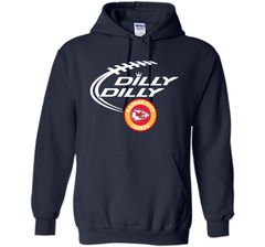 DILLY DILLY Kansas city Chiefs shirt Pullover Hoodie 8 oz - PresentTees