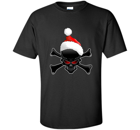 Christmas Santa Claus Ugly Black Skull T-Shirt Black / Small Custom Ultra Cotton Tshirt - PresentTees