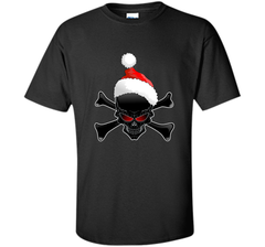 Christmas Santa Claus Ugly Black Skull T-Shirt Custom Ultra Cotton Tshirt - PresentTees