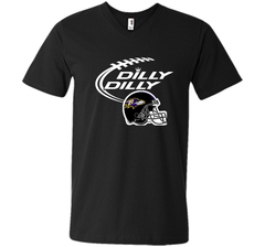 Dilly Dilly Baltimore Ravens Logo American Football Team Bud Light Christmas T-Shirt Men Printed V-Neck Tee - PresentTees