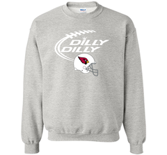 DILLY DILLY Arizona Cardinals NFL Team Logo Crewneck Pullover Sweatshirt 8 oz - PresentTees