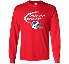 DILLY DILLY Buffalo Bills NFL Team Logo LS Ultra Cotton TShirt - PresentTees