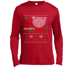 Merry Pitmas Christmas Sweater Design Gift for Pit Lovers T-Shirt LS Moisture Absorbing Shirt - PresentTees