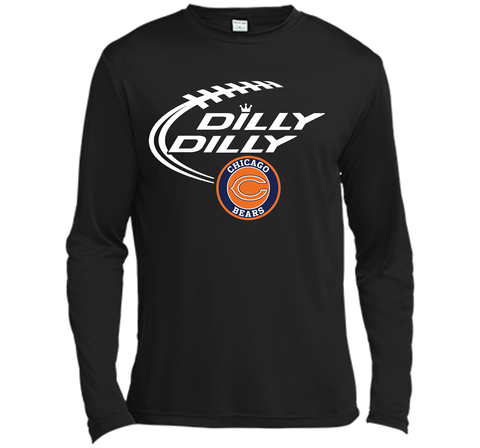 DILLY DILLY Chicago Bears shirt Black / Small LS Moisture Absorbing Shirt - PresentTees