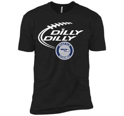 DILLY DILLY Seatle Seahawk shirt Black / Small Next Level Premium Short Sleeve Tee - PresentTees