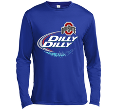 Dilly Dilly Ohio State Buckeyes T Shirt Ohio State Dilly Dilly Bud Light Shirts LS Moisture Absorbing Shirt - PresentTees