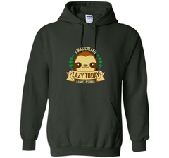 I Was Called Lazy Today Lazy but cute sloth Pullover Hoodie 8 oz - PresentTees
