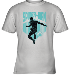 Marvel Spider Man Far From Home Stealth Suit Silhouette Youth T-Shirt