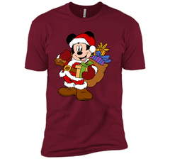 Disney Santa Mickey Mouse Christmas gifts Next Level Premium Short Sleeve Tee - PresentTees