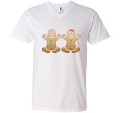 Gingerbread Christmas Cookie  Funny T-Shirt Gift Men Printed V-Neck Tee - PresentTees