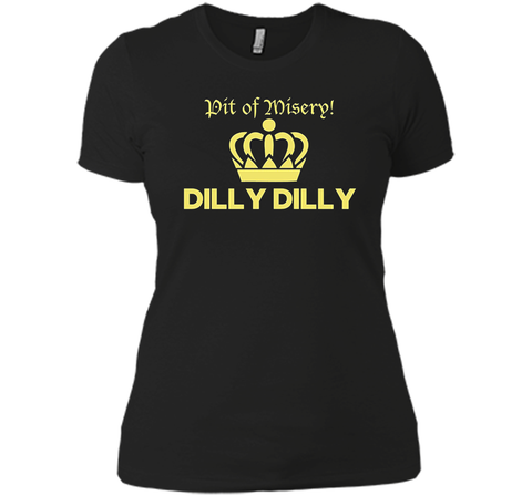 Bud Light Pit of Misery Dilly Dilly T Shirt Black / Small Next Level Ladies Boyfriend Tee - PresentTees