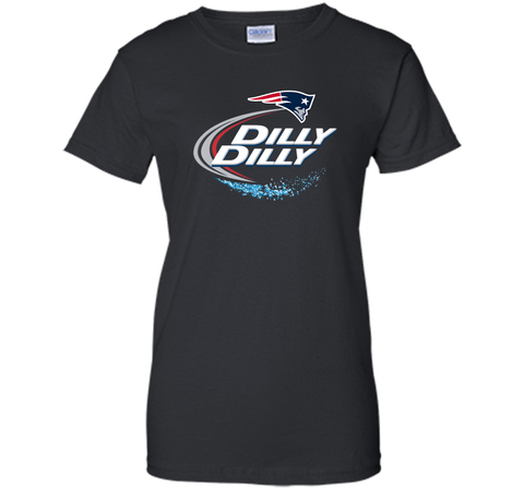 New England Patriots Dilly Dilly T-Shirt NFL Football Gift Fans Black / Small Ladies Custom - PresentTees