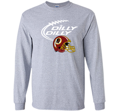 DILLY DILLY Washington Redskins NFL Team Logo LS Ultra Cotton TShirt - PresentTees