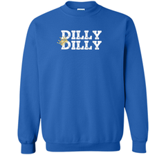 Dilly Dilly Crown Football T Shirt Crewneck Pullover Sweatshirt 8 oz - PresentTees