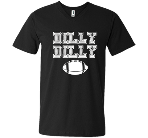 Funny Bud Light Dilly Dilly Football Chant T Shirt Black / Small Men Printed V-Neck Tee - PresentTees