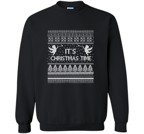 It's Christmas Time Merry Christmas T-Shirt Black / Small Crewneck Pullover Sweatshirt 8 oz - PresentTees