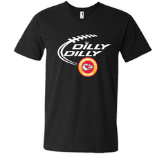 DILLY DILLY Kansas city Chiefs shirt Men Printed V-Neck Tee - PresentTees