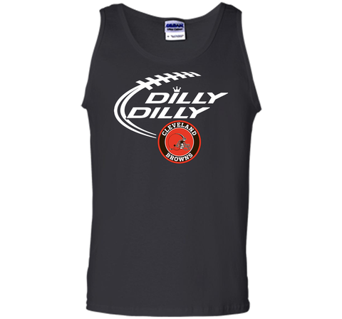 DILLY DILLY Cleverlan Browns shirt Black / Small Tank Top - PresentTees