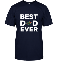 Best Minnesota Wild Dad Ever Hockey NHL Fathers Day GIft For Daddy Men's T-Shirt