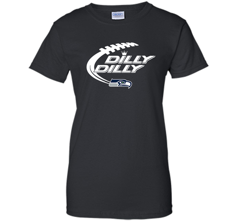 Seattle Seahawks Dilly Dilly Bud Light T Shirt SEA NFL Football Gift for Fans Black / Small Ladies Custom - PresentTees