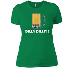 Dilly Dilly Beer Mug Alcohol Drink Stein Medieval T Shirt Next Level Ladies Boyfriend Tee - PresentTees