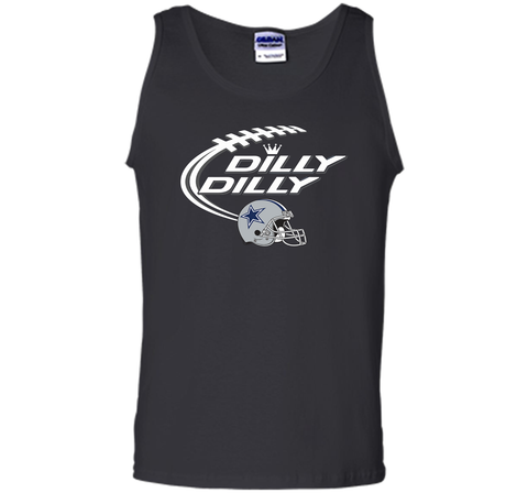 Dilly Dilly Dallas Cowboy Logo American Football Team Bud Light Christmas T-Shirt Black / Small Tank Top - PresentTees