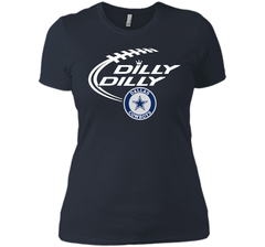 DILLY DILLY  Dallas Cowboys shirt Next Level Ladies Boyfriend Tee - PresentTees