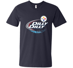 Pittsburgh Steelers Dilly Dilly T-Shirt NFL Football Gift Fans Men Printed V-Neck Tee - PresentTees