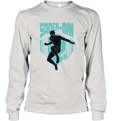 Marvel Spider Man Far From Home Stealth Suit Silhouette Long Sleeve T-Shirt