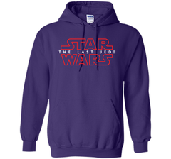 Star Wars Last Jedi Red Outline Logo Graphic Pullover Hoodie 8 oz - PresentTees