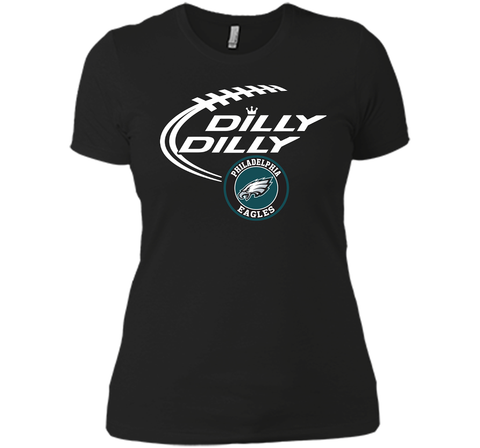 DILLY DILLY Philadelphia Eagles shirt Black / Small Next Level Ladies Boyfriend Tee - PresentTees