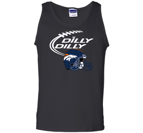 DILLY DILLY Denver Broncos NFL Team Logo Black / Small Tank Top - PresentTees