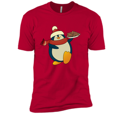 Penguin With Christmas Cookies Funny T-Shirt Next Level Premium Short Sleeve Tee - PresentTees