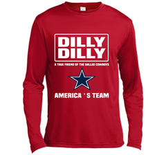 Bud Light Dilly Dilly! A True Friend Of The Dallas Cowboys Shirts LS Moisture Absorbing Shirt - PresentTees