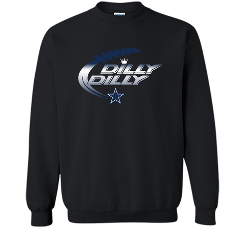 Dilly Dilly Dallas Cowboys T-Shirt Dallas Cowboys Dilly Dilly NFL Football Gift for Fans Black / Small Crewneck Pullover Sweatshirt 8 oz - PresentTees