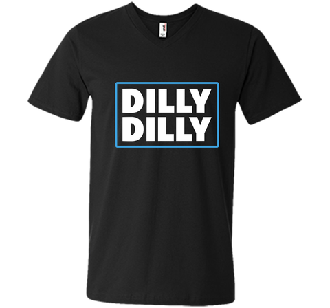 Bud Light Official Dilly Dilly T-Shirt Black / Small Men Printed V-Neck Tee - PresentTees
