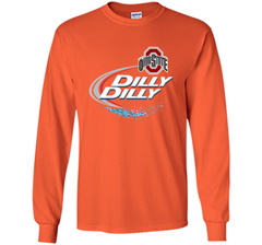 Dilly Dilly Ohio State Buckeyes T Shirt Ohio State Dilly Dilly Bud Light Shirts LS Ultra Cotton TShirt - PresentTees
