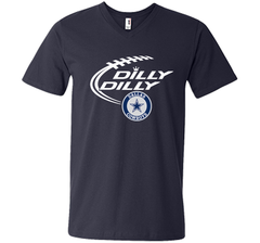 DILLY DILLY  Dallas Cowboys shirt Men Printed V-Neck Tee - PresentTees